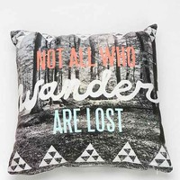 Wesley Bird For DENY Wander Pillow- Black & White One