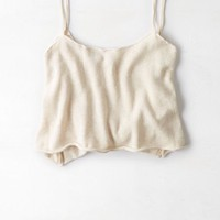 AEO Women's Cropped Knit Cami (Oatmeal)