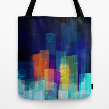 Underwater city Tote Bag by SensualPatterns