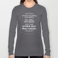 The Office Dunder Mifflin - More Cubicles Long Sleeve T-shirt by Noonday Design