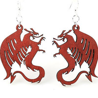 Dragons Laser Cut Earrings from Reforested by GreenTreeJewelry