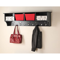 Broadway Black 60 inch Wide Hanging Entryway Shelf   Overstock.com Shopping - The Best Deals on Other Storage