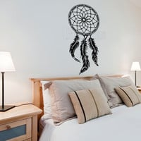 Boho style dream catcher wall decal, home decor, wall sticker, decal, wall graphic, vinyl decal, wall decor, vinyl graphic decal, wall art