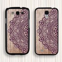 purple lace galaxy s5 case,  personalized samsung Galaxy S4 case,Galaxy S3 case, sasmung galaxy note 2 case, samsung  Note 3 case ,043