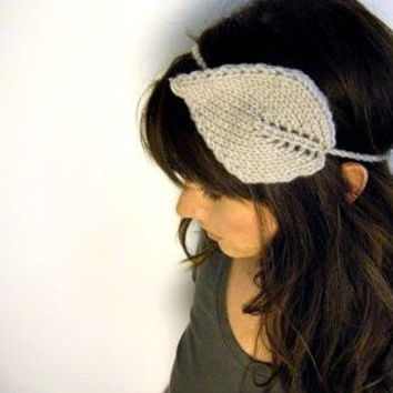 Headband of the Leafy kind in Linen by KittyDune on Etsy