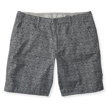 Diamond Flat-Front Shorts