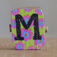 """""""M""""  Gypsy  Girl  Letter  Magnet  From  Natural  Life"""