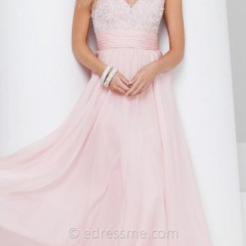 Floral Princess Prom Gown by Tony Bowls Le Gala