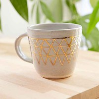 Pickle Pottery Triangles Mug- White One