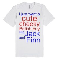 Cheeky Jack and Finn-Unisex White T-Shirt
