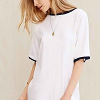 Urban Renewal Vintage Oversized Ringer Tee Dress- White One