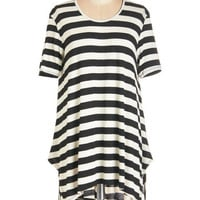ModCloth Long Short Sleeves What's Flowin' On Tunic