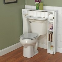 Smart Space Over Toilet Etagere - White