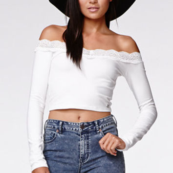 Kendall & Kylie Off Shoulder Top at PacSun.com