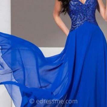Inverted Waist Prom Gown by Tony Bowls Le Gala