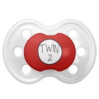 Twin 2 pacifier from Zazzle.com