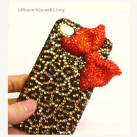iPhone 4 Case, iPhone 4s Case, iPhone 5 Case, bling iphone 4 case, iphone 5 bling case, Cute iphone 4 case, Cheetah iphone 4 case bow