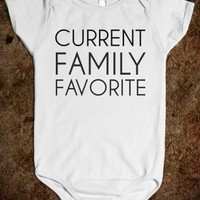Supermarket: Current Family Favorite Baby Onesuit from Glamfoxx Shirts