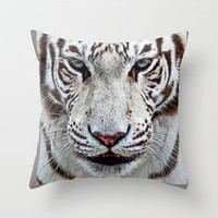 BLUE-EYED BOY Throw Pillow by catspaws   Society6