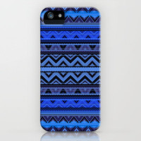 Mix #218 - Blue Aztec iPhone Case by Ornaart | Society6