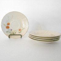 Saucers Mikasa Margaux Patter Fine Ivory Set of Five