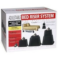 Extra Tall Bed Risers - Adjustable Height Dorm Bedding Accessory Space Creator