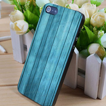 Mint Blue Wood