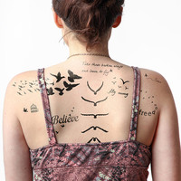 Fowl Play - Temporary Tattoo (Set of 16)
