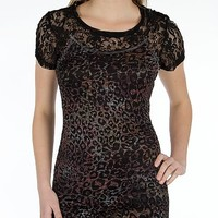 BKE Boutique Animal Print Top