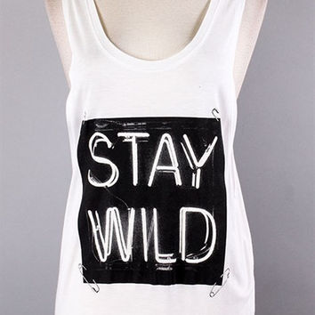 Stay Wild Graphic Top
