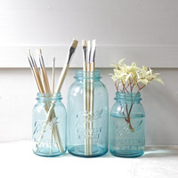 Vintage Ball Mason Jars Set of Three