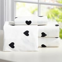 The Emily + Meritt Heart Sheet Set