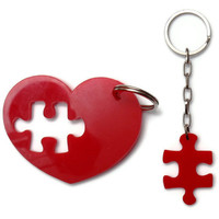 Puzzle  Accessories, Key Chain Set,Plexiglass, Laser Cut Acrylic,Gifts Under 25