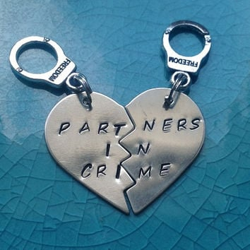 Partners In Crime Keychains -Sterling Silver-