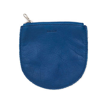 Small Leather Pouch: Blue