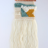 Woven Wall Hanging, Mini, Seafoam Collection