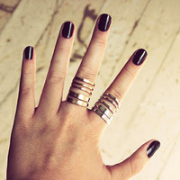 Multi Wrap Twist Rings, Gold Ring, Silver Ring, Band Ring, Knuckle Rings
