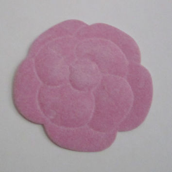 Sale** Authentic CHANEL Pink Velvet Paper Camellia Flower Sticker / Gift Wrapping / Paper Craft / Card / Scrapbooking / DIY