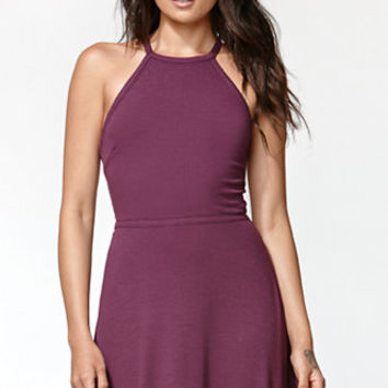 Kendall & Kylie Ribbed Tie Back Fit And Flare Dress at PacSun.com