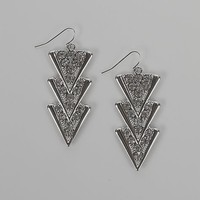 Women's Layered Triangle Earring in Silver by Daytrip.