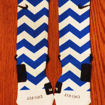 Blue Chevron Nike Elite Socks