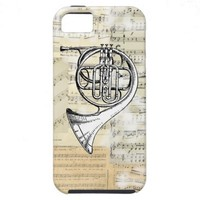 Vintage French Horn Music iPhone Case