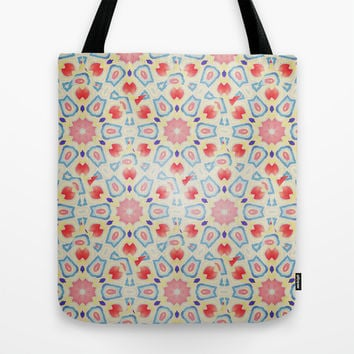 RED ARABESQUE Tote Bag by Nika