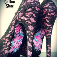Painted Lady by TheTattooShoe on Etsy