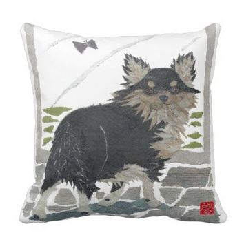 Long-Hair Chihuahua Pillow