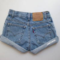 """ALL SIZES Vintage """"HERCULES"""" Levis Lee High Waisted Denim Shorts"""