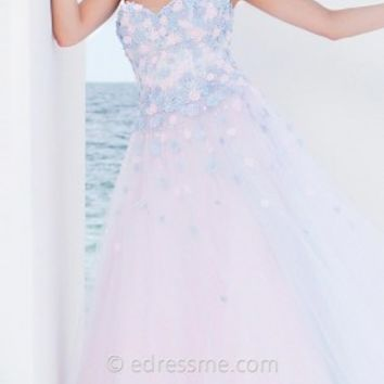 Rosette Princess Prom Gown by Tony Bowls Le Gala