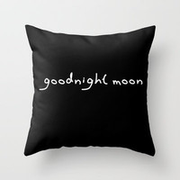 Goodnight Moon Throw Pillow by Lucy Helena