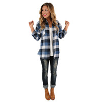 Cozy For Days Unisex Flannel in Blue