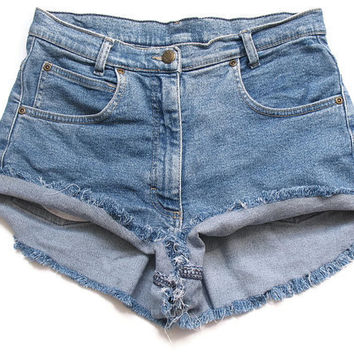 High waist shorts L by deathdiscolovesyou on Etsy